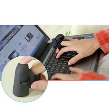 1Pcs USB wireless giallo ANELLI dito mouse ottico 1600Dpi per PC portatile