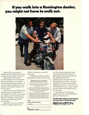1970 HONDA 125SS MOTORCYCLE ~ ORIGINAL REMINGTON PRINT AD
