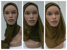 Kuwaiti Hejab Mona Hijab Abaya Muslim Islamic Headcover GREEN Women Head Scarf