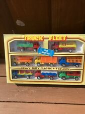 VINTAGE AND RARE  HONG KONG PLASTIC BEDFORD S TYPE TRUCKS ALL DIFFERENT. BOXED
