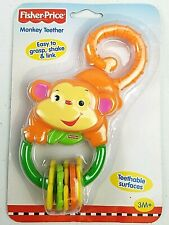✅ Fisher Price Rainforest Orange Monkey Teether Rattle 🚛 Fast Free Shipping ✅