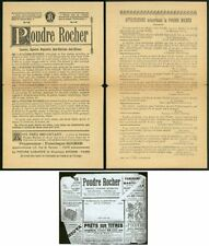 France 1900ca Poudre Rocher insert/cut-rate stationery