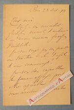L.A.S 1894 ROBERT MITCHELL Homme politique journaliste né à Bayonne Lettre LAS