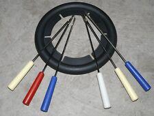 Mini Friteuse Fondue Aufsatz inkl. 6x Gabel Ring