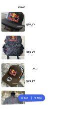 FAKE!! RED BULL ATHLETE ONLY HAT - 2020 PINSTRIPE TRUCKER - CAP - RARE - MONSTER