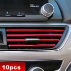 10x DIY Air Outlet Conditioner Car Stickes Vent Strip Grille Decoration Trim photo