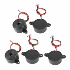 5 Pcs DC 3-24V 85dB Sound Electronic Buzzer Alarm Black 23 x 12mm V8I6 Y6D5