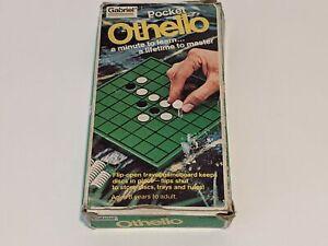 POCKET OTHELLO Vintage 1977 Gabriel Flip-Open Travel Board Game