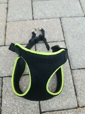 New listing Xs Dog Harness From Black and Reflective Green Mess Adjustable