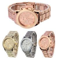 Geneva Watches Ladies Women Unisex Stainless Steel Quartz Casual Wrist Watch New