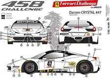"[FFSMC Productions] Decals 1/32 Ferrari F-458 Challenge ""Darren Crystal"" 2012"