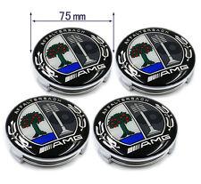 4 pcs AMG Wheels Center Caps 75mm AFFALTERBACH Hub Cover Emblem Badges CLK ML