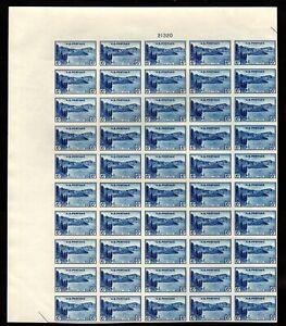 "761 Farley spec printing "" 6c National Park"" Sheet of 50 Mint,NH"