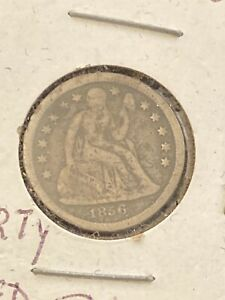 1856-O Seated Liberty Dime U.S. Silver New Orleans *5458