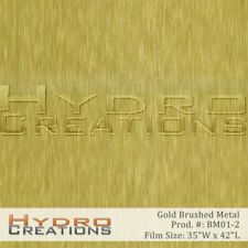 "Hydrographic Film Hydro Dipping Water Transfer Gold Brushed Metal (38.5"" x 38.5"""