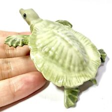 Miniature Cute Snapping Turtle Statue Ceramic Animal Figurine Collectibles Decor