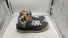 COACH denim high top sneakers shoes Ellis 8.5