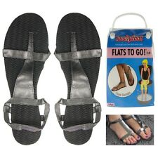 Lot of 12 Pairs - Kushyfoot - Reusable Flats To Go Women's Sandals - Size 9-10