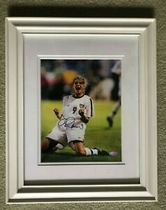 Mia Hamm Team USA Soccer Authentic Signed Photo Custom White Framed