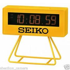 100% New Unused Seiko Lunar Miniature Marathon Timer Alarm Clock Qhl062Ylh