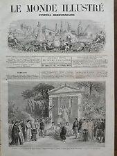 LE MONDE ILLUSTRE 1871 N 745 COURRONNEMENT DU BUSTE D'ESPRIT AUBER A L'lOPERA