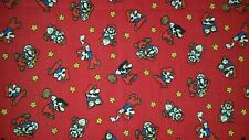 LINED VALANCE 42X12 VINTAGE NINTENDO SUPER MARIO WORLD VIDEO GAME WII RED NES