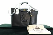 BNWT RALPH LAUREN VICTORIA TOTE LEATHER SATCHE BLACK SHOULDER HANDBAGS RRP £303