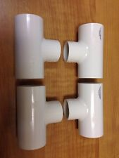 "401-131 - PVC Reducing Tee 1"" x 1"" x 3/4"" - Pack of Four!  Spears - Brand New!"