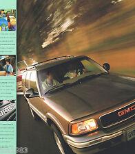 Lrg. 1997 GMC TRUCK JIMMY SUV Brochure / Catalog: SL,SLS,SLE,SLT,Gold Edition