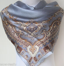 Fashion Vintage Style Lady's 100% silk scarf square smooth soft Scarf 35''