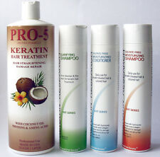 Pro 5 Complex Brazilian keratin treatment  Jumbo kit made in USA  Prof Blowout