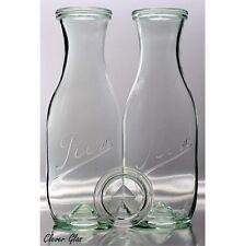 2 REX 1 Liter Pyramidenflasche / Karaffe zur Wasserharmonisierung von Weck Glas