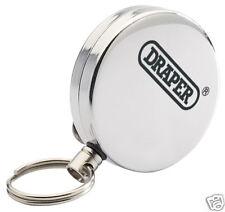 Draper Stainless Steel Retractable Key Ring Ski Pass ID Holder Belt Clip 76213