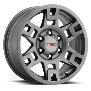 """🔥 Genuine Toyota 17"""" Gray TRD PRO 4Runner FJ Cruiser Tacoma Wheels Rims OEM 🔥"""
