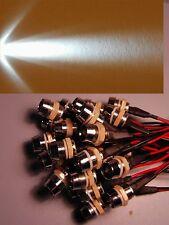 10 STÜCK 10mm weisse weiss POWER LEDs 12Volt 100mA LED LEDSCHRAUBE 290.000mcd