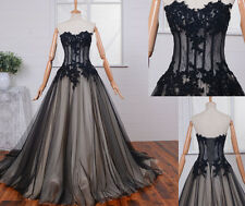 2017 Gothic Lace Ball Bridal Gown Prom Formal Quinceanera Wedding Dresses Custom