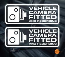 2 x cámara de vehículo equipado Ventana Calcomanía Adhesivo. 145x56mm/Dashcam Coche Cctv