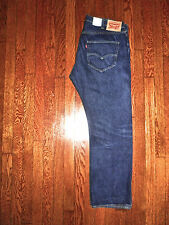 LEVIS ORIGINAL FIT BUTTON FLY STRAIGHT LEG RED LINE SELVEDGE JEANS 40x29 Actual