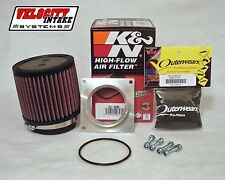 Z400 Velocity Intake Aluminum Airbox Adapter Kit K&N Air Filter FREE Outerwears
