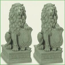 2 Lion Statue Entryway Guardian Lion Garden Entrance Yard Decor - New