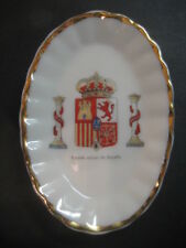 TRAY PORCELAIN SHIELDS MILITARY. SHIELD CURRENT OF SPAIN