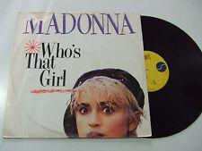 """Madonna – Who's That Girl  - Disco Mix 12"""" 45 Giri Vinile ITALIA 1987 Synth/Pop"""