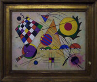 Wassily Kandinsky Vassily framed painting on panel abstract surrealism modernism