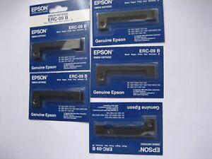 5 X Pack Set Bundle Epson ERC-09B Ribbon Black 5 Piece