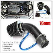 Car Cold Air Intake Filter Induction Pipe Power Flow Hose Kit w/Silicone Joiner