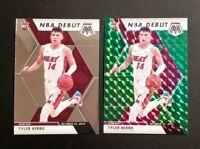 2019-20 Panini Mosaic TYLER HERRO ROOKIE LOT Green Prizm NBA Debut #280 w Base