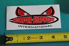 New listing Monster Surfwear International Vintage Surfing Decal Sticker