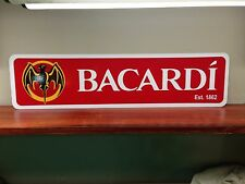 "BACARDI Red background aluminum sign 6"" x 24"""