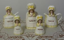 VINTAGE COUNTRY GIRL TABLE ACCESSORY SET, 7 PIECES