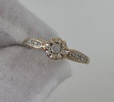 Ring, 9k 375 9ct Gold Vintage Diamond